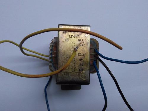 transformador 110vac a 12 y 24vac@3amp.