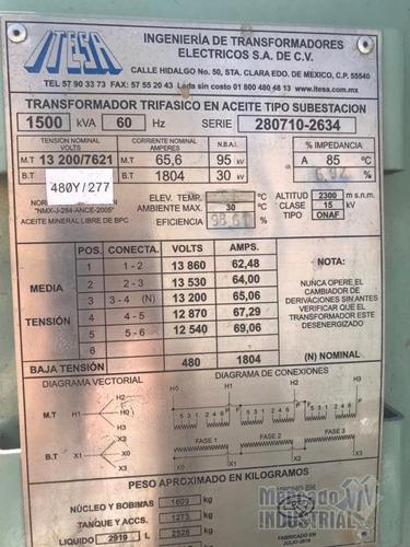 transformador 1500 kva 13200v