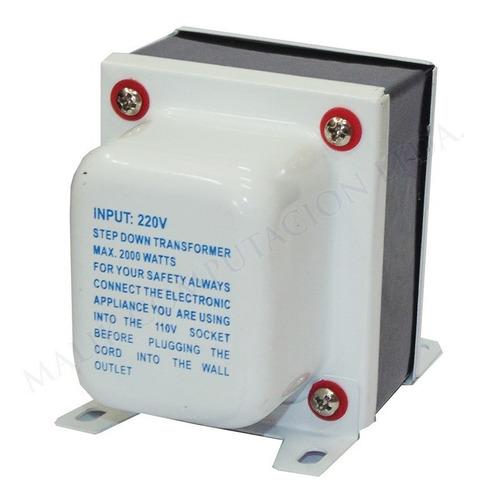 transformador 2000w elepow tc-2000t 220v a 110v ac max nuevo