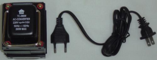 transformador 220 v - 110 v / 110 v - 220 v de 200w potencia