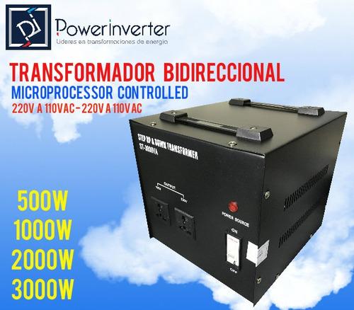 transformador 220v a 110vac 1000w bidireccional profesional