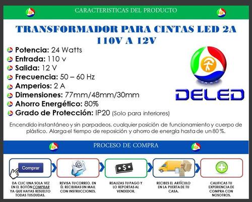 transformador 2a 110v a 12v luz led camaras de seguridad