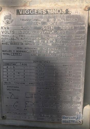 transformador 500 kva 13200v