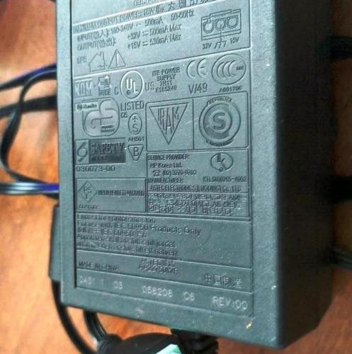 transformador cable para impresora hp punta verde original