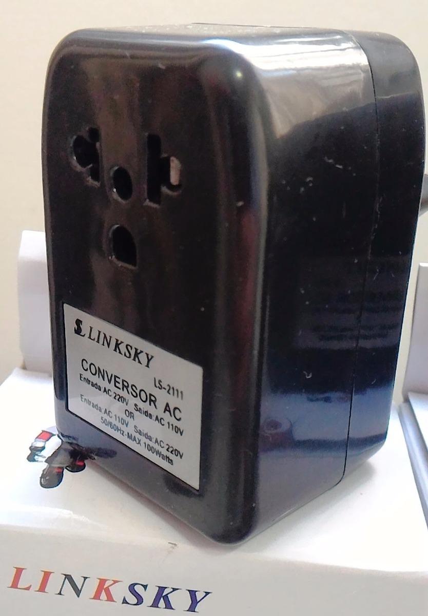 Transformador conversor 110 220v e 220 110v 100 watts - Transformador 220 a 110 ...