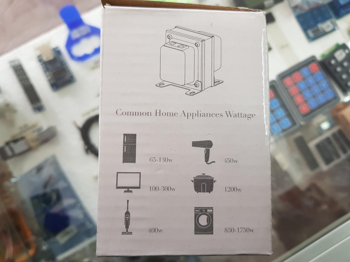 Transformador convertidor 110 a 220 voltios 100 vatios u - Transformador 220 a 110 ...