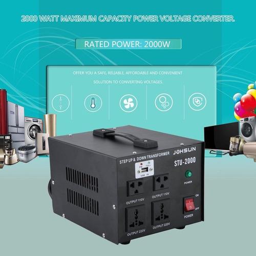 transformador convertidor  220v a 110v o 110v a 220v 2000w