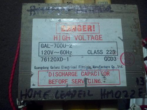 transformador de alta microondas home  hm022e-13 /gal-700u-2