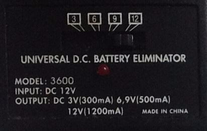 transformador de corriente 12v dc/dc (eliminador de bateria)