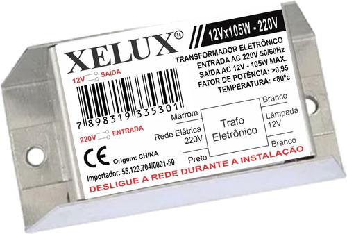 transformador eletrônico 12v x 105w-220v xelux