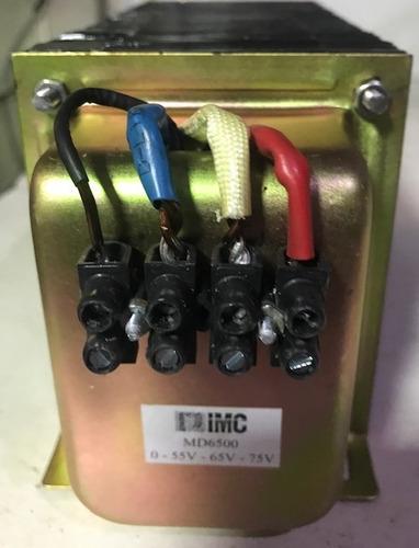 transformador entrada 220v saida 0 - 55v - 65v - 75v md6500