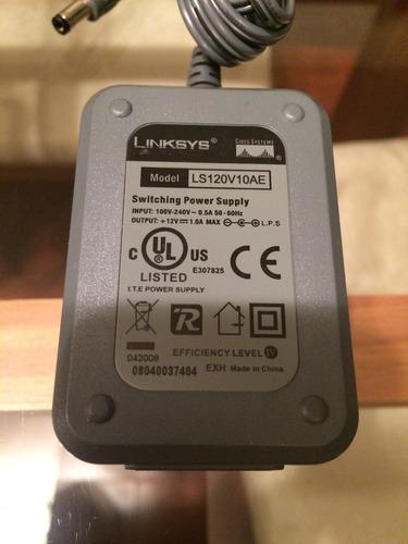 transformador / fuente de poder cisco linksys 12v 0.5a