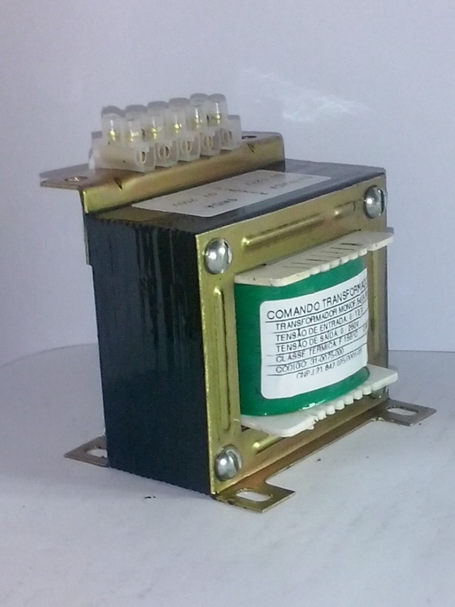 Transformador isolador 200va 220v sa da 110v 24v r - Transformador 220 a 110 ...