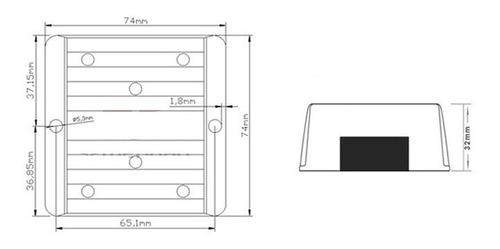 transformador para caminhão dc 24v para 12v 240w blindado