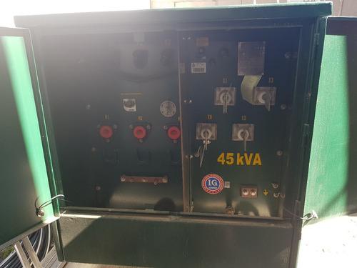 transformador pedestal op. anillo 45 kva 13,200/220-120 v.