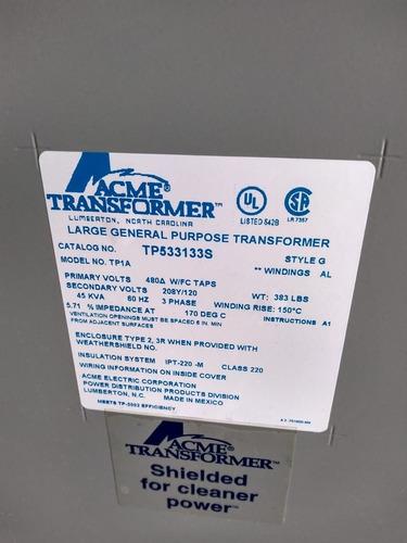 transformador seco 45 kva 480-208 120 tr-e05