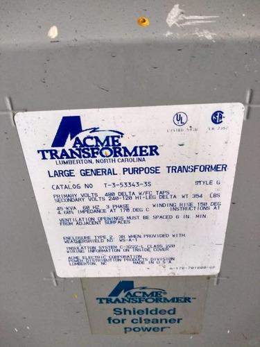transformador seco 45 kva marca acme tr-e51