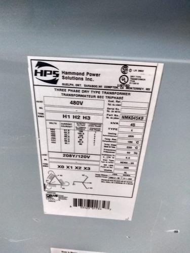 transformador seco 45 kva marca hps tr-e48