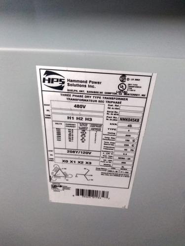 transformador seco 45 kva marca hps tr-e49