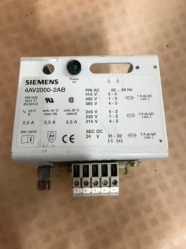 transformador siemens-2,5a-p385/400/415/215/230/245v e s 24v