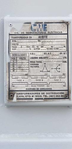transformador tipo poste marca cme de 150 kva. como nuevo