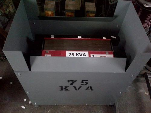 transformador  tipo seco de 75 kva 220-440-220 v. trifasico