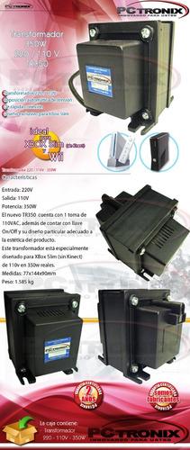 transformador trafo 350w 220 / 110 v nuevo xbox slim y wii