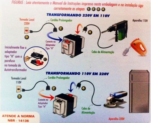 transformador voltagem at 2000va bivolt upsai