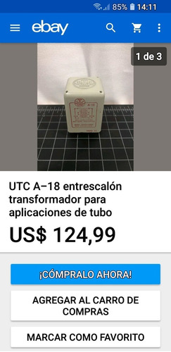 Transformadores Utc A-18,audio Vintage,u s a  - $ 15 000,00