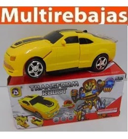 transformer carro con  luces y sonido