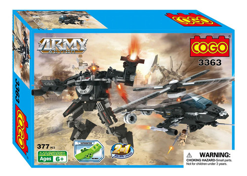 transformer robot helicoptero cogo action bloques armable