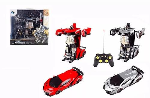 transformers 2 en 1 carro a control remoto