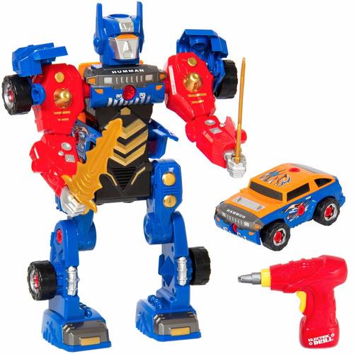 transformers 2 en 1 carro a robot para ensamblar