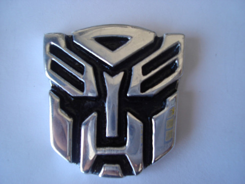 transformers autobots  emblema metalico