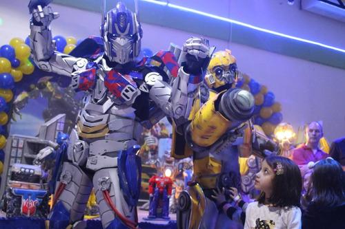 transformers bumblebee e optimus personagens vivos exclusivo