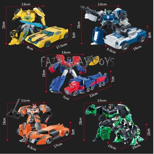 transformers disguise robot 6 modelos x ud. - fair play toys