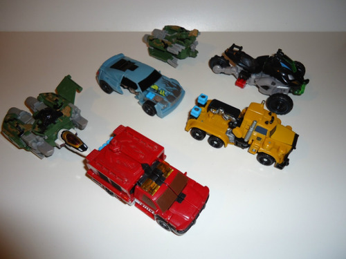 transformers - lote power core c. + otros - incompletos