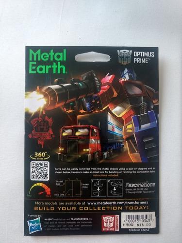 transformers metal earth optimus prime