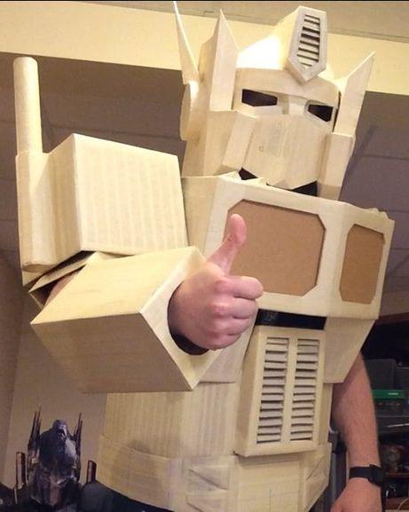 Transformers Optimus Prime Disfraz Armadura Plantillas