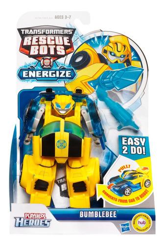 transformers rescue bots optimus bumblebee chase hetawave