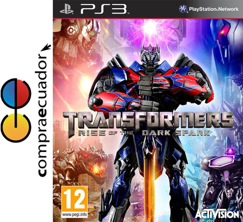 transformers rise of the dark spark ps3 juego fisico sellado