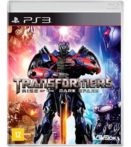 transformers rise of the dark spark ps3 lacrado mídia física