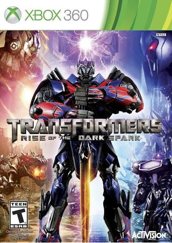 transformers rise of the dark spark - xbox 360 mídia física