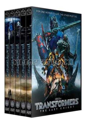 transformers saga compelta dvd colección latino 5 peliculas