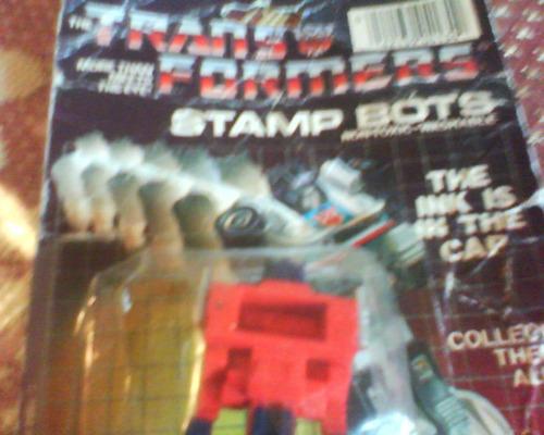 transformers-stamp bots c /sello hasbro 1984-retro c/blister