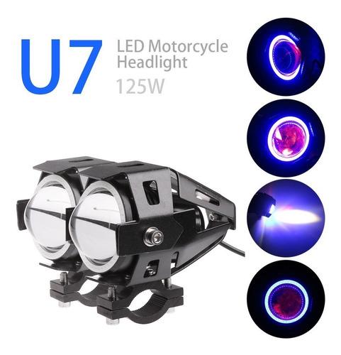 transformers u7 faro para motos con ojo de angel