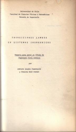 transiciones lambda en sistemas inorgánicos / balboa,   ruiz