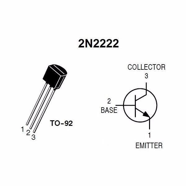 transistor 2n2222 10 piezas nuevas