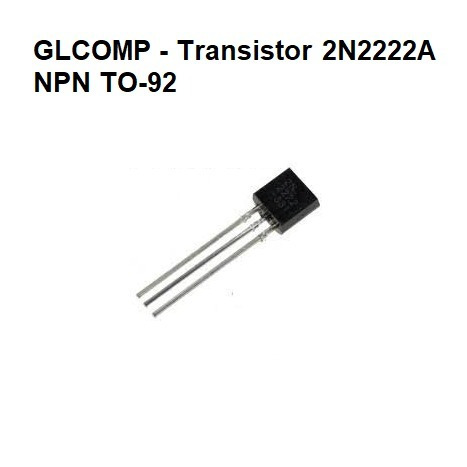 transistor 2n2222 npn to-92 kit c/ 100 peças - carta reg.