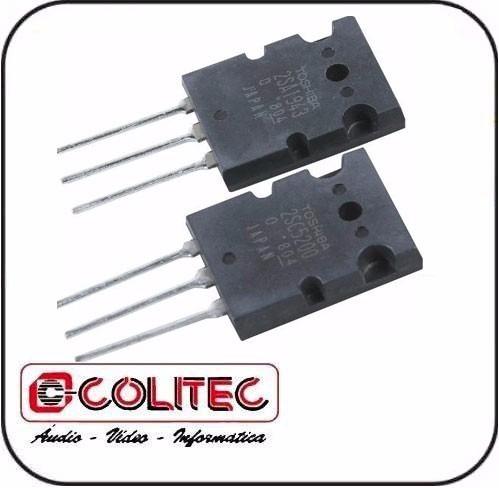 transistor 2sc 5200 e um 2sa 1943 npn pnp par